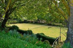 My dream backyard! Tennis court all to myself! Tennis Tips, Lawn Tennis, Play Area Garden, Tennis Doubles, Eco Cabin, Tennis Funny, Foto Top, Tennis Legends, Grass