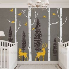 ** The tree decal is made to be trimmed on either the top or bottom to fit your wall perfectly. Size: Standard Birch Tree Size (approx): (Total width will vary based on how you choose to place the tre