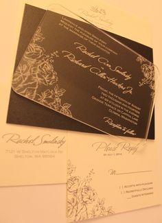 My wedding invitations from https://www.etsy.com/listing/93314315/engraved-acrylic-wedding-invitations?utm_source=Pinterest&utm_medium=PageTools&utm_campaign=Share