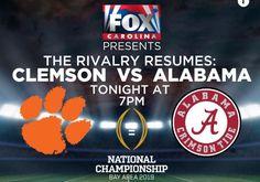 1-7-2019 Clemson Vs Alabama, College Football Playoff