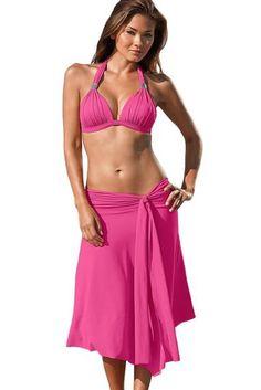 ab03ab7444 Fuchsia Convertible Beach Dress Beach Skirt - Womens Beach Cover-Ups  Kaftans & Beach Dresses
