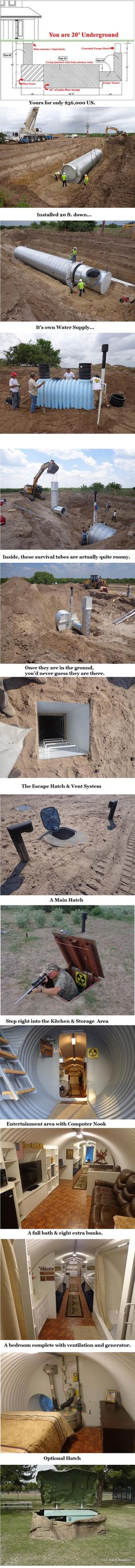 Atlas Survival Shelters If you fear a nuclear war (or even just the future)…