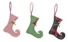 handmade fabric christmas decorations - Google Search