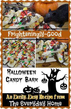 Frighteningly Good Halloween Candy Bark   The Everyday Home   www.everydayhomeblog.com