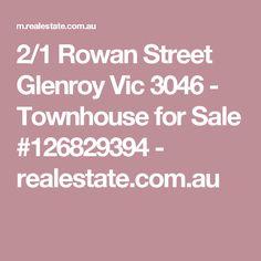2/1 Rowan Street Glenroy Vic 3046 - Townhouse for Sale #126829394 - realestate.com.au