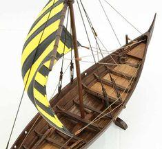 Viking ship model Skuldelev 3, details