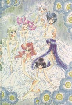 Sailor Moon Artbook Vol. 5 - Inner Senshi, Chibi-Usa and Hotaru Sailor Saturn, Arte Sailor Moon, Sailor Chibi Moon, Sailor Venus, Sailor Mars, Sailor Moon Crystal, Sailor Moon Personajes, Sailer Moon, Sailor Moon Wallpaper
