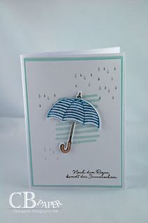 Umbrella; rain; partial background stamp; clean and simple