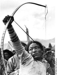 Tibetan archer, 1938