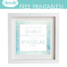 DIY Snow Globe Terrarium + a free first snow printable Diy Holiday Gifts, Easy Christmas Crafts, Simple Christmas, Free Poster Printables, Free Printable Art, Diy Snow Globe, Snow Globes, Journal Organization, Faux Snow