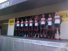 Our 8 riders ready for Stage 1 in #parisnice. Photo - RSLT | Lockerz