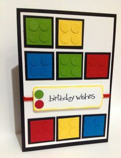 Handmade Lego Birthday Card Stampin UP | eBay