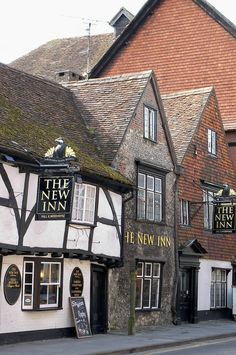 The New Inn, which is located in the heart of the historic and exciting City of Salisbury, Wiltshire, England. This is a traditional English pub offering great food and award winning Ales, a cosy environment and a beautiful beer garden. British Pub, British Isles, England And Scotland, England Uk, England Time, Old Pub, English Village, English Countryside, Architecture