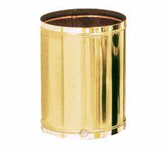 Lixeira Latão - Sem tampa - 6,5 litros