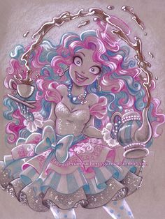 Madeline Hatter.Prismacolor pencil, ebony pencil, and gouache on toned paper.