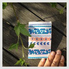 navajo cotton mini notebook sketchbook by mipluseddesign on Etsy