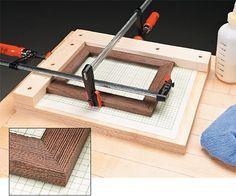 Bancada para fazer molduras ou suporte para painel