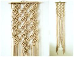 FREE SHIPPING WITHIN USA  Macrame wall hanging - Sprigs #1 - unique and stylish wall decor for your home or office. Handmade, original idea and design