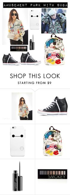 """BTS Imagine Outfit"" by bangtanbombshell95 ❤ liked on Polyvore featuring Converse, Marc Jacobs, MAC Cosmetics and Forever 21"