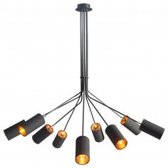 Ambition Ceiling Lamp in Black   50214-ZUO   Zuo