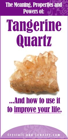 Tangerine Quartz Meaning Crystals And Gemstones, Stones And Crystals, Sacral Chakra Stones, Chakra Healing, Crystal Uses, Tangerine Quartz, Healing Stones, Healing Crystals, Gemstone Properties