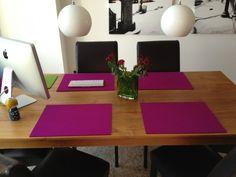 Filz-Tischset rechteckig, 5 mm von Hey-Sign in 42 Farben aus 100% Schurwolle
