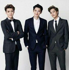 Sehun, Chanyeol, Kai