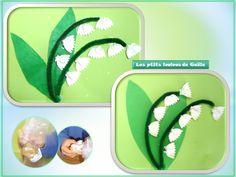 Bricolage enfants pour le 1er mai. Muguet avec des pâtes papillon