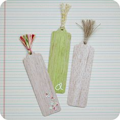 Use textured paper/cardboard for a simple but beautiful bookmark.