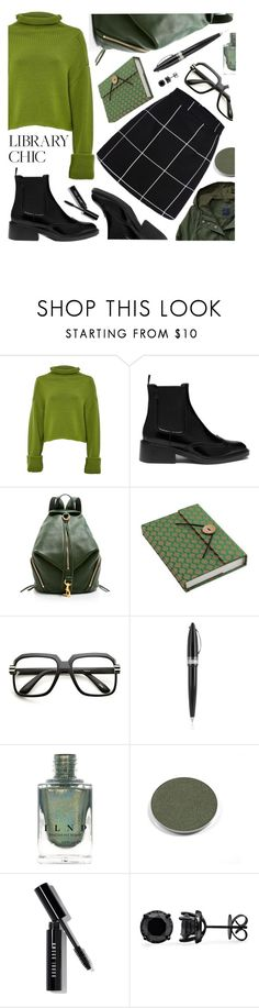 """""""library chic"""" by sandevapetq ❤ liked on Polyvore featuring Amanda Wakeley, Mulberry, Rebecca Minkoff, NOVICA, ZeroUV, Pineider, Chantecaille and Bobbi Brown Cosmetics"""