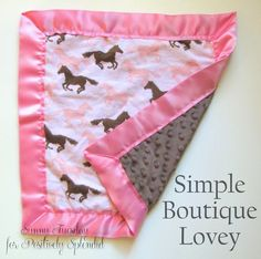 Simple Boutique Baby Lovey Tutorial | Positively Splendid {Crafts, Sewing, Recipes and Home Decor}