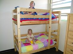 toddler bunks bed plans and instructions for DIY toddler bunk beds, save money and space with toddler bunk beds Small Bunk Beds, Toddler Bunk Beds, Bunk Beds Boys, White Bunk Beds, Bunk Bed Plans, Modern Bunk Beds, Bunk Beds With Stairs, Kid Beds, Loft Beds