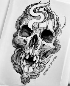 Tatoo Design, Tattoo Design Drawings, Skull Tattoo Design, Cool Skull Drawings, Tatoo Art, Tattoo Artwork, Skull Artwork, Dog Tattoos, Black Tattoos