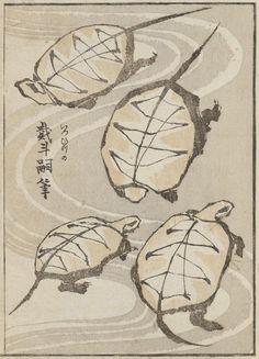 inland-delta:  Katsushika Hokusai, illustration from Album of Drawing with one Stroke of the Brush, 1823