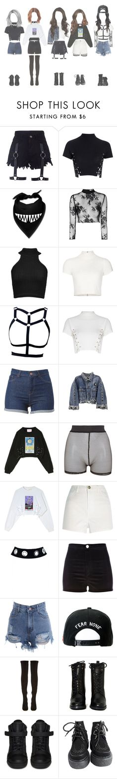 || Debut Stage || by royal-official on Polyvore featuring moda, Glamorous, Alice + Olivia, Cushnie Et Ochs, River Island, OPTIONS, Bitching & Junkfood, Nicholas Kirkwood, Report and Zara