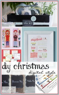 Looking for DIY christmas gift ideas? How about some digital printables that will make the job a piece of cake!