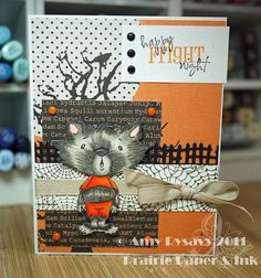 Card #3 from my 2011 Halloween Card Series by AmyR of Prairie Paper & Ink