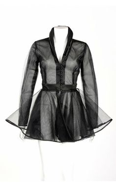Vintage Goth Pinup Capsule Collection Laura Byrnes Bustle Fishnet Jacket. | Pinup Girl Clothing