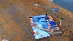 Archivio lavori di grafica (arte) ||||||||||| LE DUE FRIDA (Frida Kahlo) / SISSI ||||||||||| Coll. iSensibili, a cura di Cristina Francucci, Ed. Art'è, Bologna 2002 ||||||||||| Disegni e immagini: Sissi ||||||||||| Testi: Veronica Ceruti ||||||||||| Grafica: Laura Calvini (Studio Lulalabò)