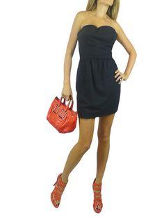FENDI Black Strapless Cocktail Mini Dress. 36/XS $550.00  http://www.boutiqueon57.com/products/fendi-black-strapless-dress-36-xs