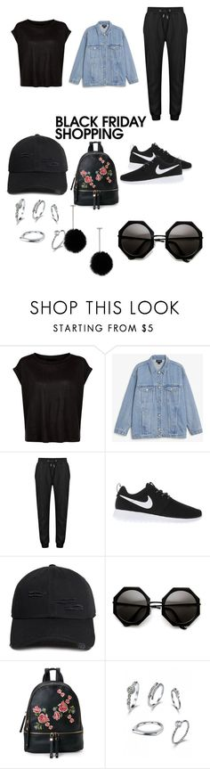 """Black Friday shopping"" by kaitlinnash ❤ liked on Polyvore featuring Monki, NIKE, 21 Men, Urban Expressions and Tuleste"