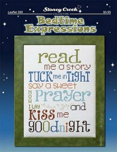 Bedtime Expressions is the title of this cross stitch pattern from Stoney Creek.