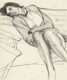 "igormaglica: ""Richard Diebenkorn (1922-1993), Untitled, ca. 1963–64. charcoal on paper, 17 3/5 × 14 2/5 inches """