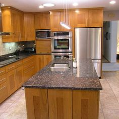 Modern Home Sapphire Blue Granite Countertops Design, Pictures, Remodel, Decor and Ideas