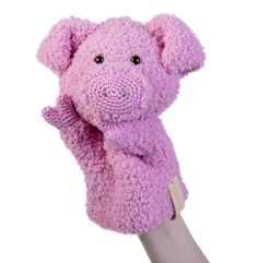 Haakpatroon handpop varken Joep #haken #haakpatroon #gehaakt #amigurumi #knuffel #gehaakt #crochet #häkeln #cutedutch #handpop Crochet Pig, Crochet For Kids, Crochet Toys, Doll Toys, Dolls, Diy Doll, Softies, Puppets, Lana