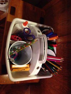Homework caddy Homework Caddy, Homework Organization, Getting Organized, Kitchen Appliances, Diy Kitchen Appliances, Home Appliances, Shop Organization, Kitchen Gadgets