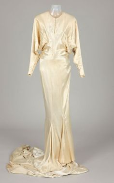 "Joan Crawford Dresses | Joan Crawford costume (from ""Dancing Lady""): Wedding Dress"