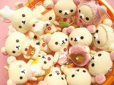 Kawaii Korilakkuma Bear Mini Mascot Keychain Plushie  Japan by Kawaii Japan, via Flickr