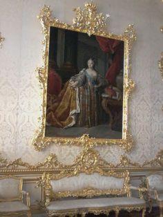 Quadro de época no Palácio de Catalina em Pushkin São Petersburgo ( Rússia ) luxo até na moldura