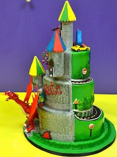 Half Castle and Dragon, Half Hot Wheels Cake